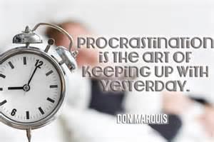 procrastination-donmarquis